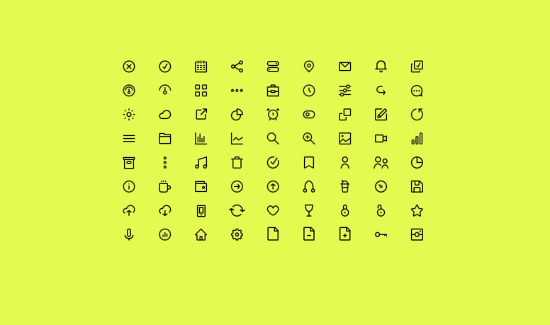 Top 32 Free Icon Sets For Adobe Illustrator 2017