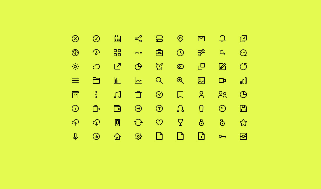 Top 30+ Adobe Illustrator Icon Sets 2019