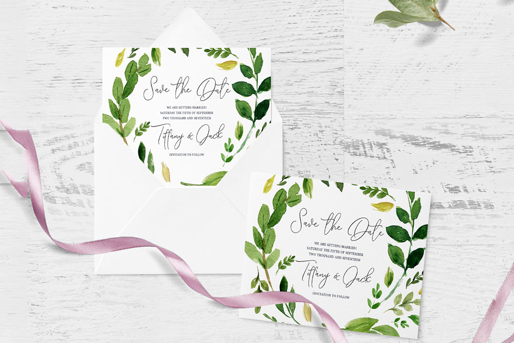 free invitation card envelope mockup