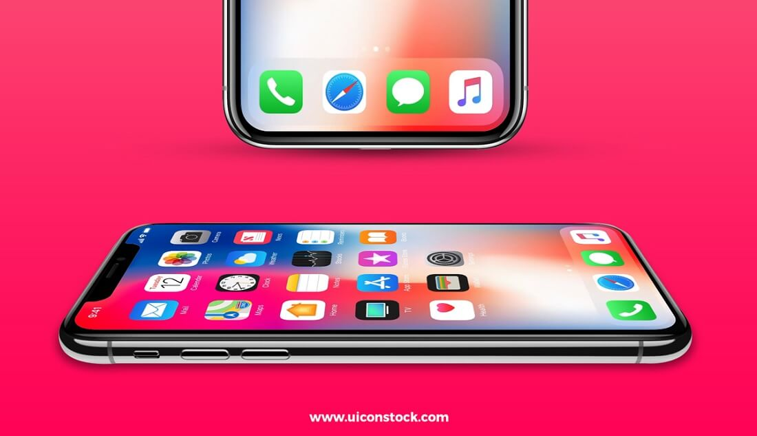 free iphone x mockup 2 angles