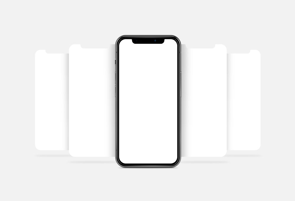 free iphone x showcase mockup