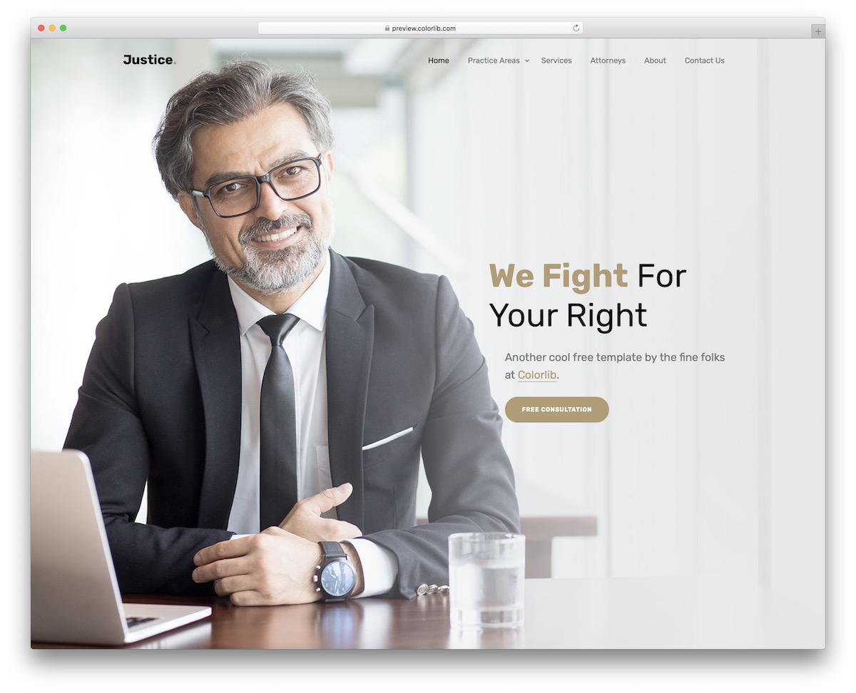 Free Lawyer Website Templates