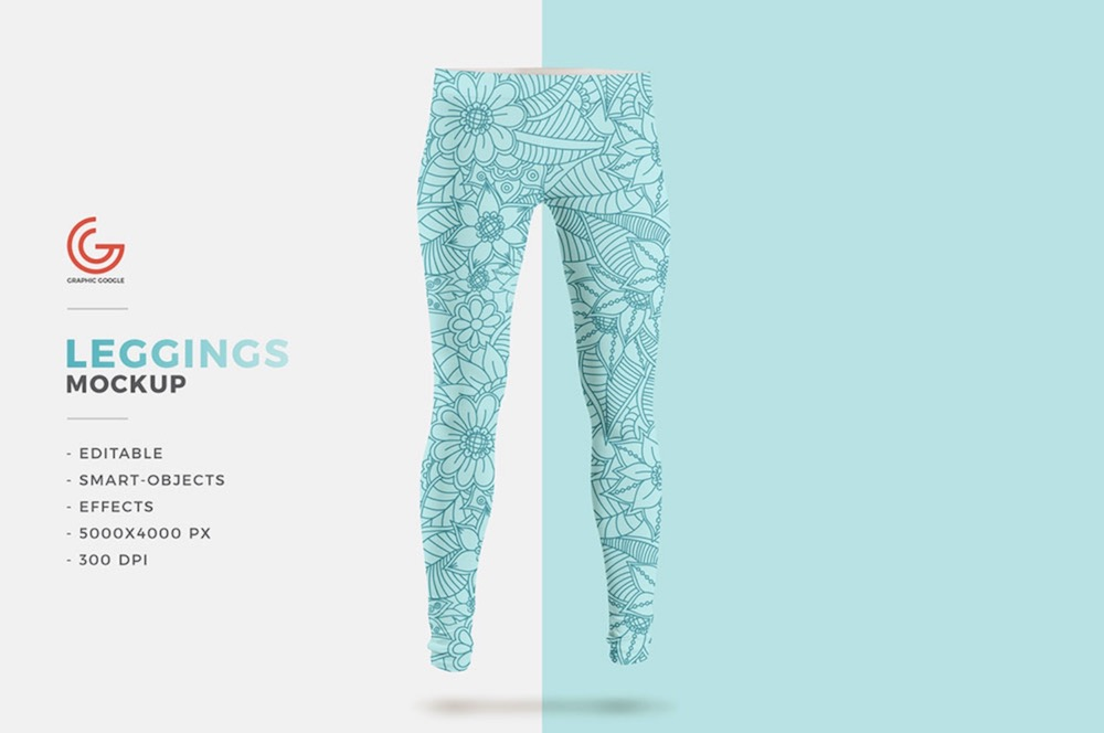 free leggings psd mockup template