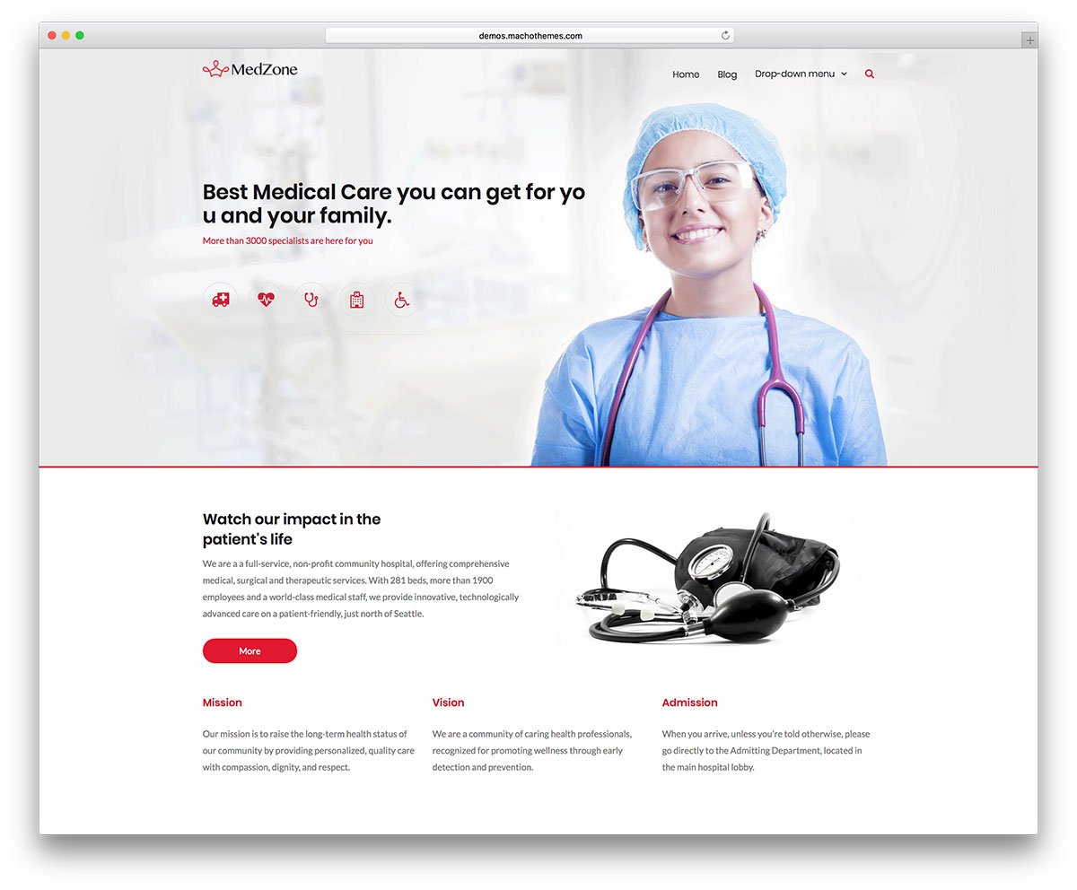 MedZone PRO: Medical WordPress Theme images