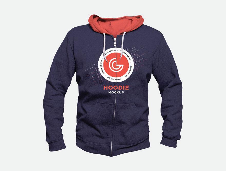 free mens hoodie mockup psd