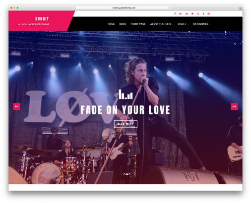 Free Music Band Wordpress Themes