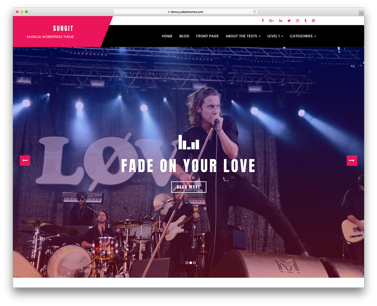 14 Beautiful and Free Band WordPress Themes for your band Website