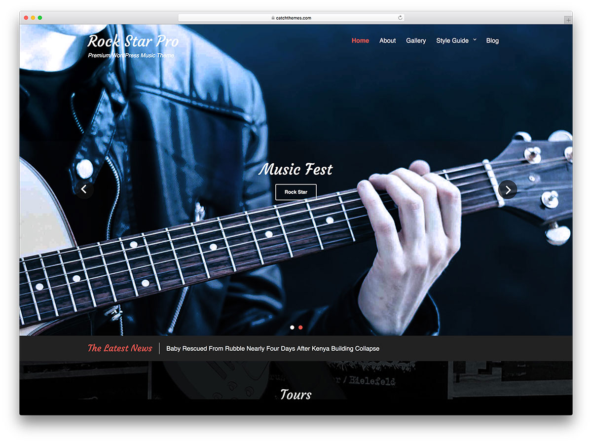 15 free music wordpress theme for band and event websites 2018