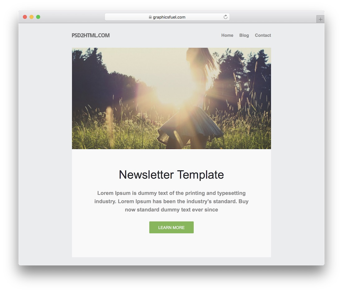 Free Newsletter Template Graphicsfuel