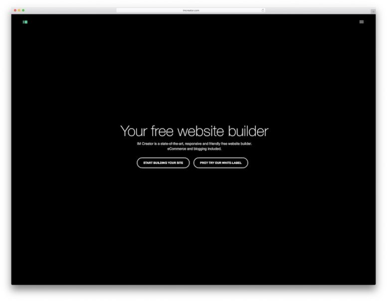 Free One Page Website Builders
