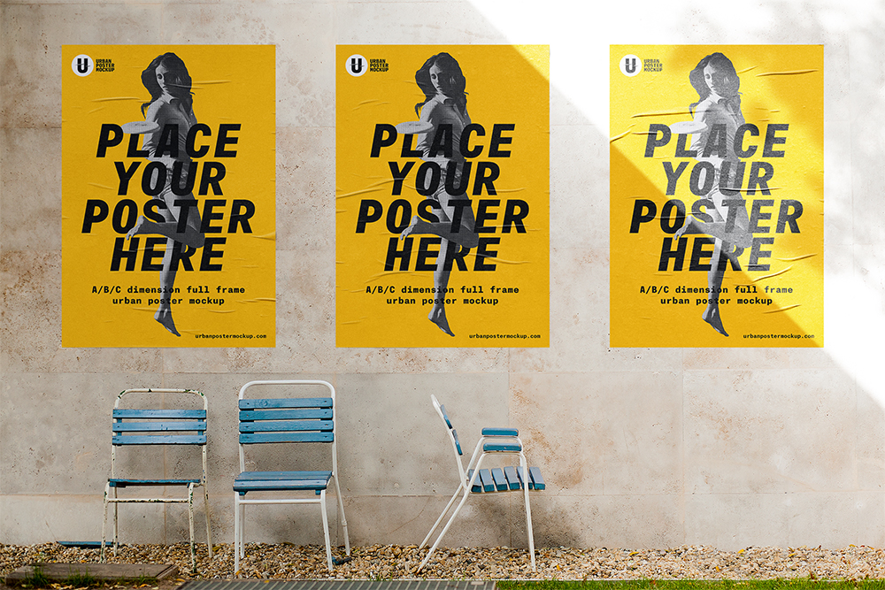 free outdoor poster mockup