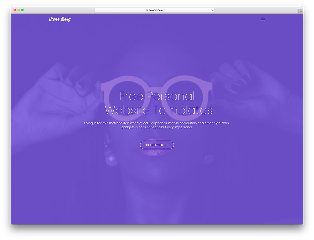 27 Free Personal Website Templates To Boost Your Personal Branding 2019