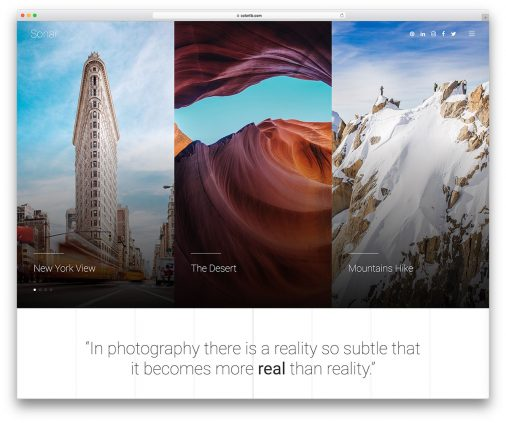 Free Photography Site Templates