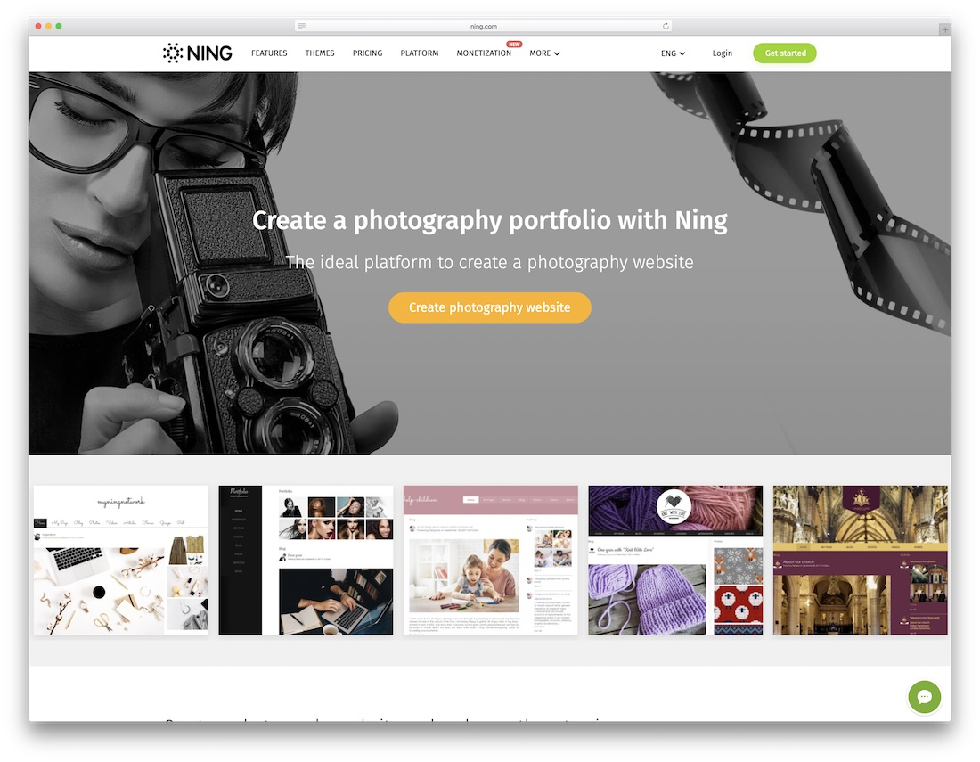 Free Photography Website Builder