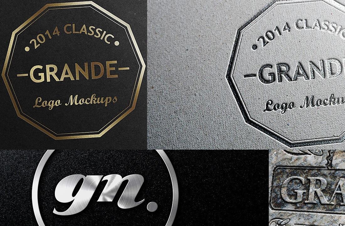free photorealistic logo branding mockups