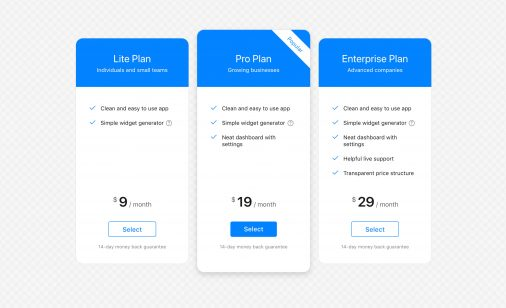 Free Pricing Table Plugins