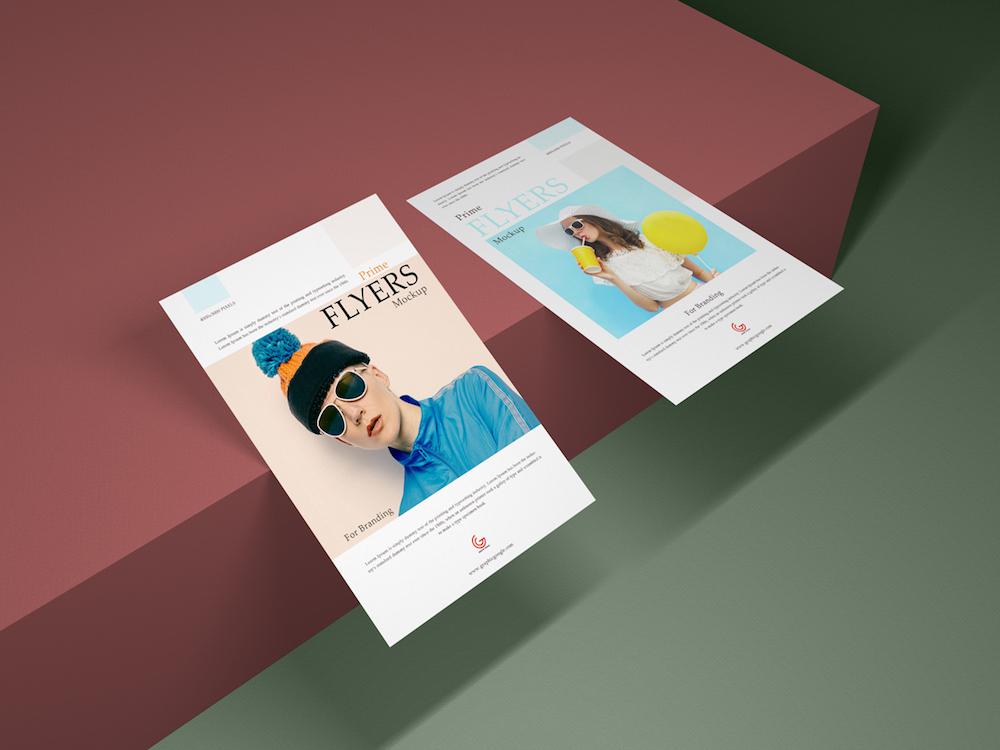 free prime flyer mockup psd for branding