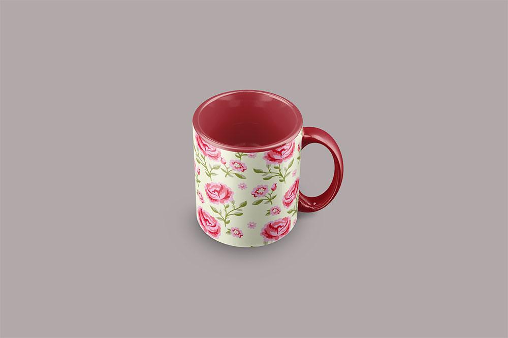 free promotional mug mockup psd