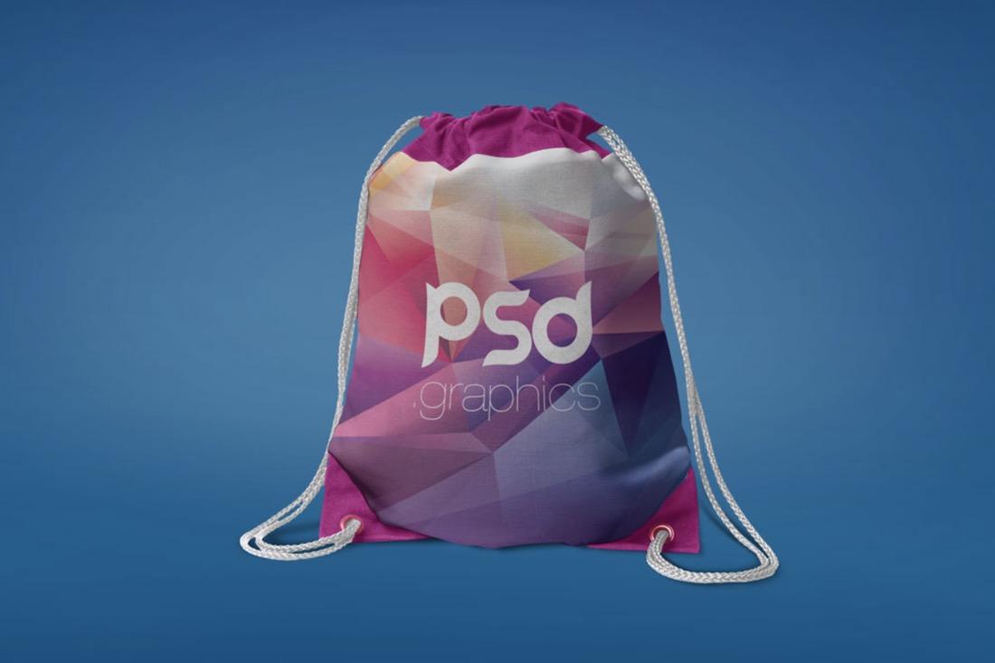 free psd drawstring bag mockup