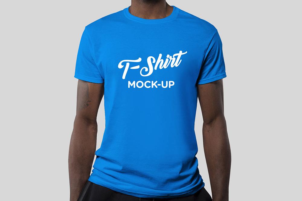 free psd men shirt mockup