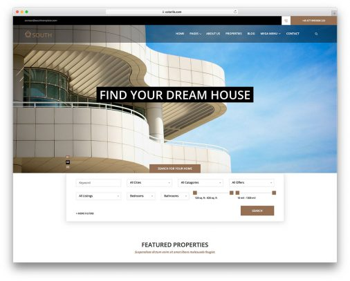 Free Real Estate Website Templates