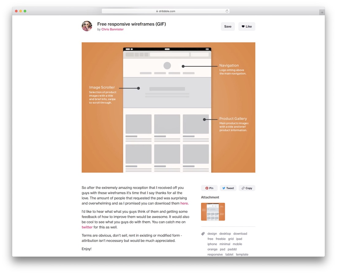 free responsive wireframes gif