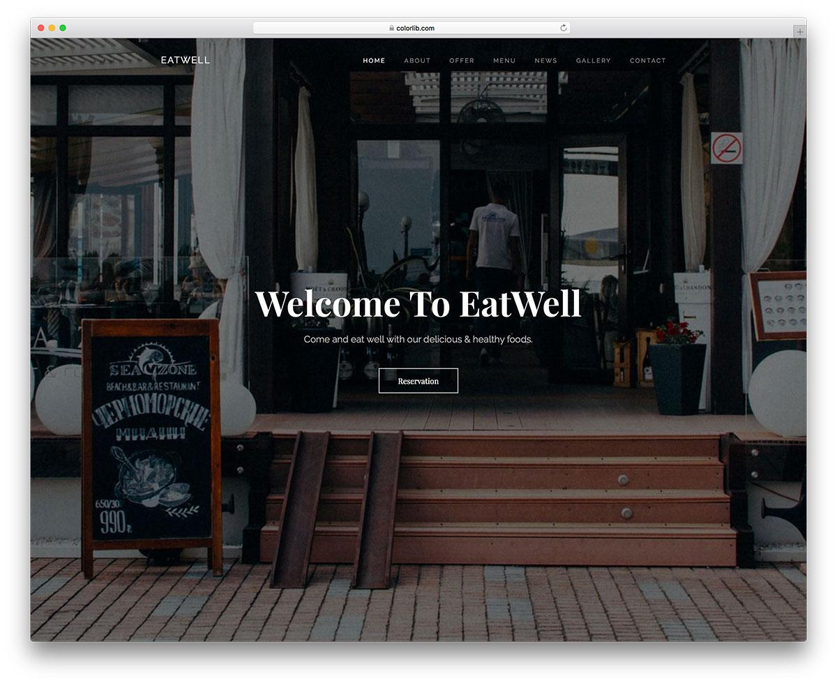 Free Restaurant Website Templates