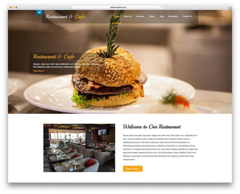 20+ Free And Stunning Restaurant WordPress Themes