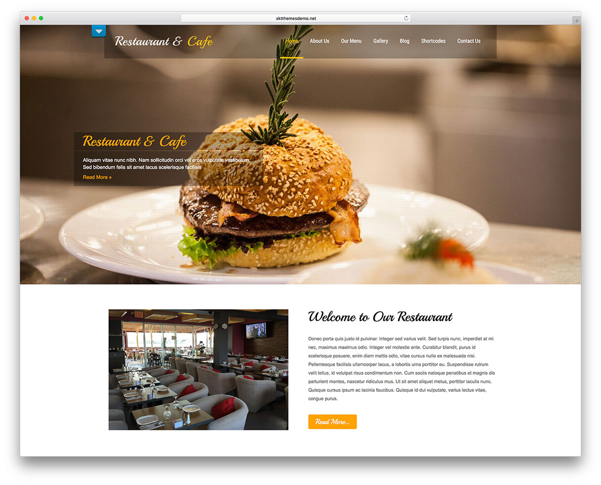 25+ Stunning Free Restaurant WordPress Themes 2019
