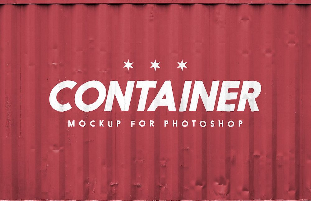 free shipping container logo mockup