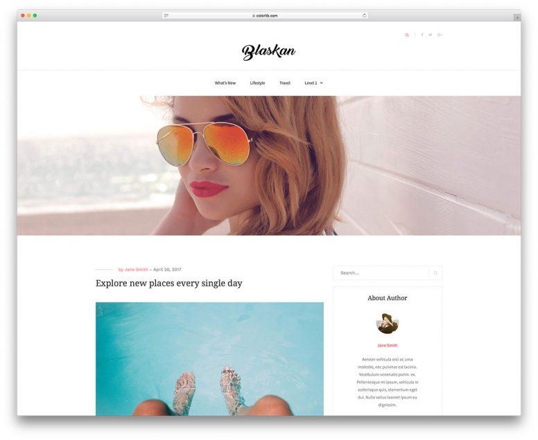20 Best Free & Simple WordPress Themes 2018