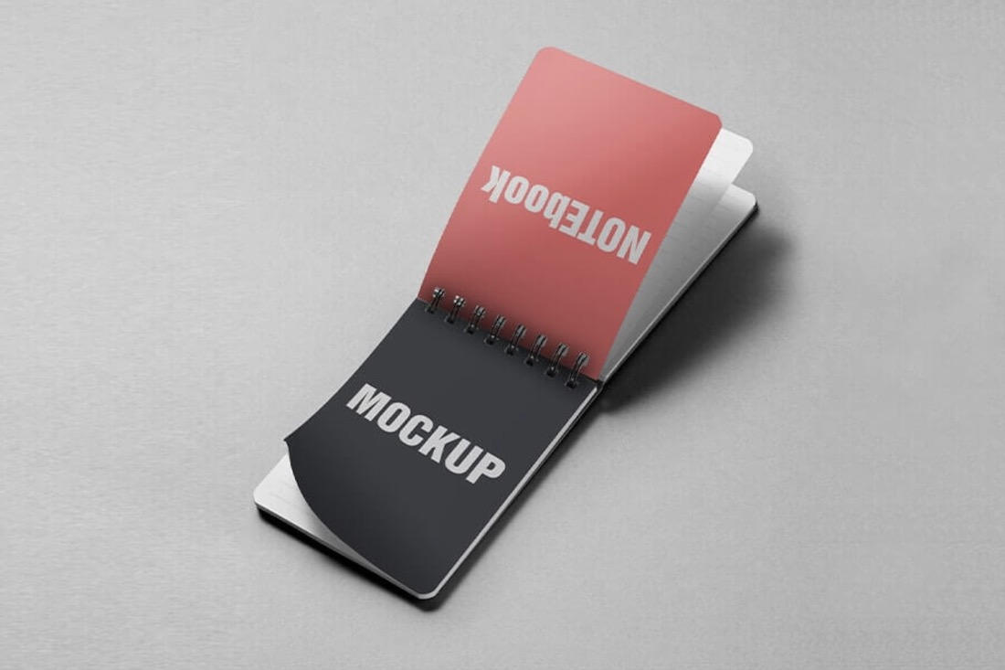 free small pocket notebook mockup psd