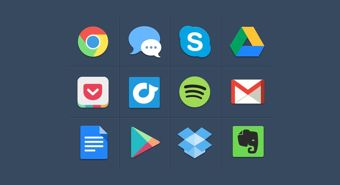 15 Beautiful Free Flat Social Media Icons Sets 2014