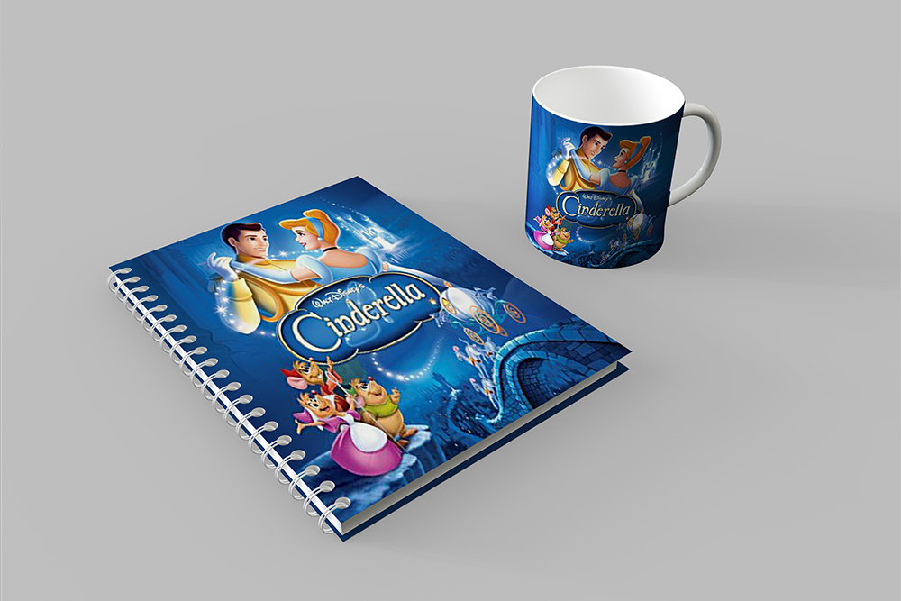 free spiral notebook cover and mug mockup in psd