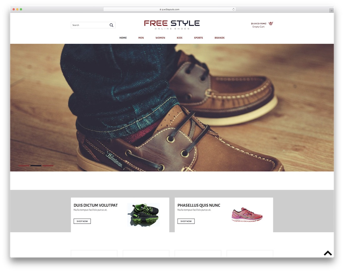 free style free bootstrap ecommerce website template