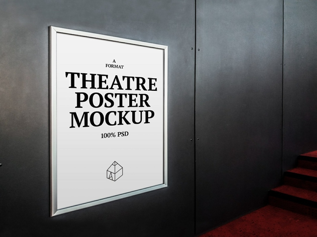 free theater poster mockup