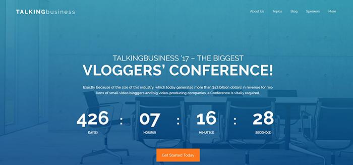 Talking Business - Conference Free WordPress Theme WordPress Theme
