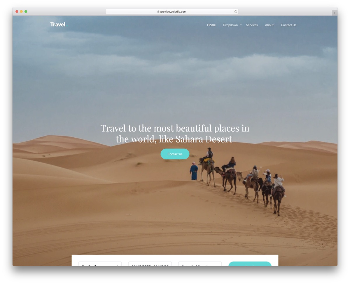 Free Travel Website Templates