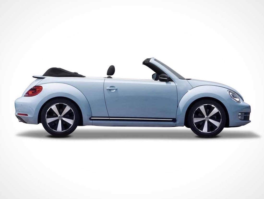 free volkswagen beetle car mockup