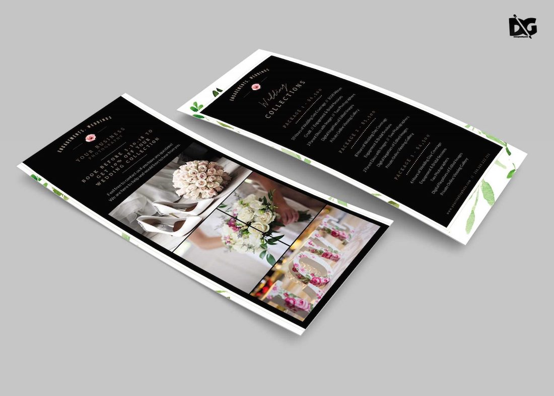 free-wedding invitation rack card
