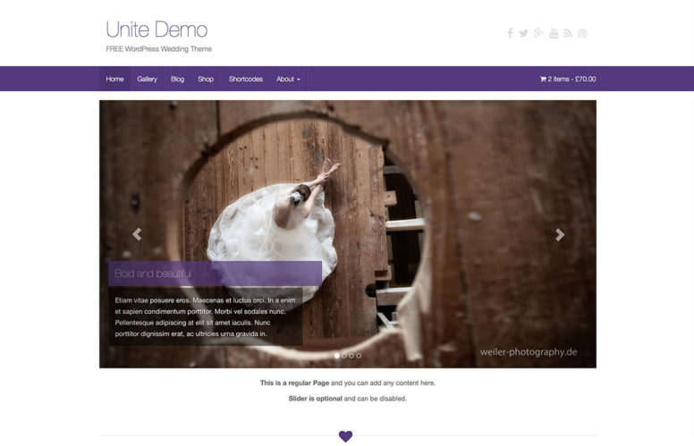 Free Wedding WordPress Themes