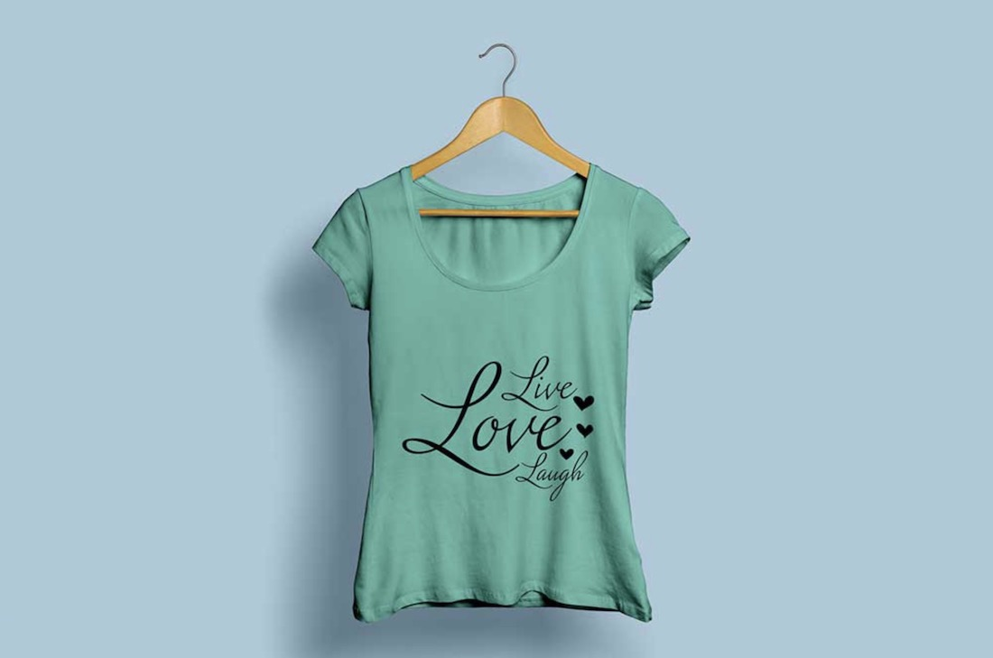 free woman t-shirt mockup
