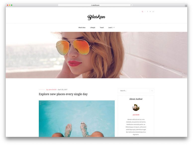 30 Best Free WordPress Blog Themes For Lifestyle, Food, Fashion, Personal, Corporate Blogs 2017