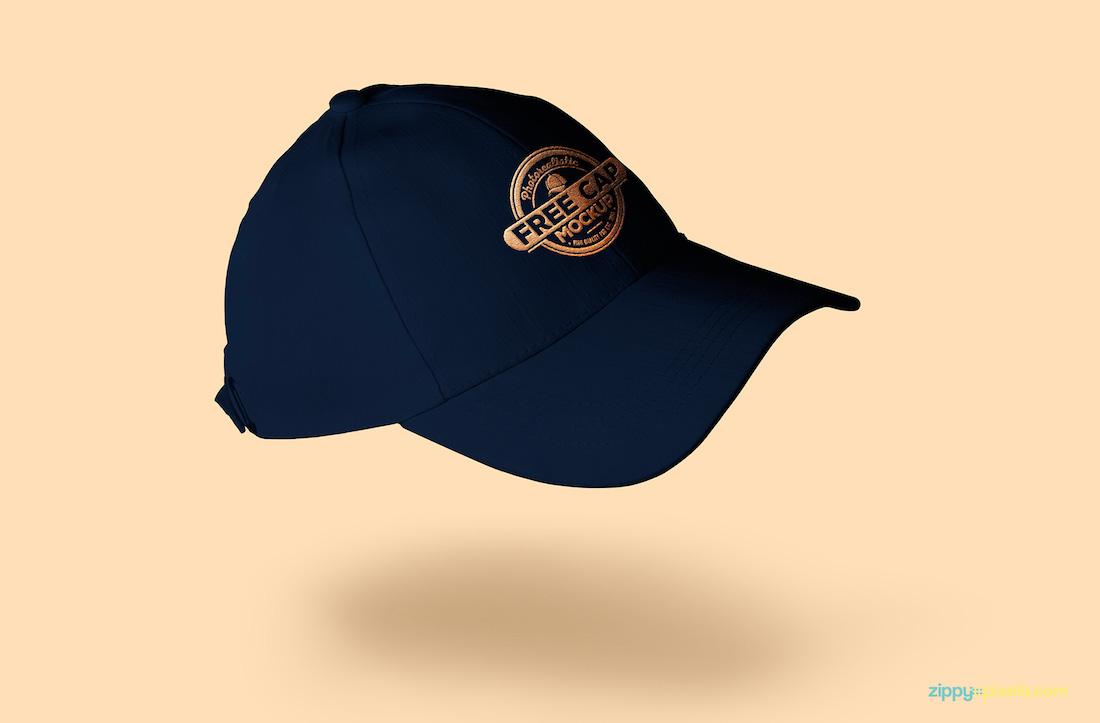 freebie baseball cap mockup