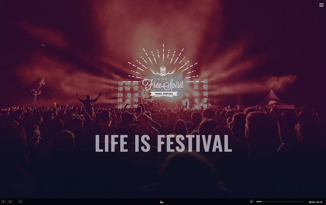 freespirit musician website template