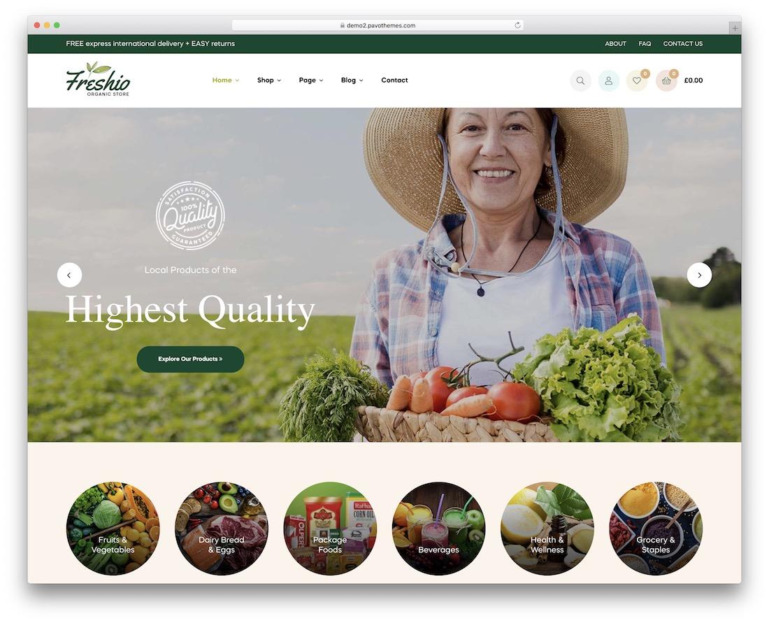freshio food wordpress theme