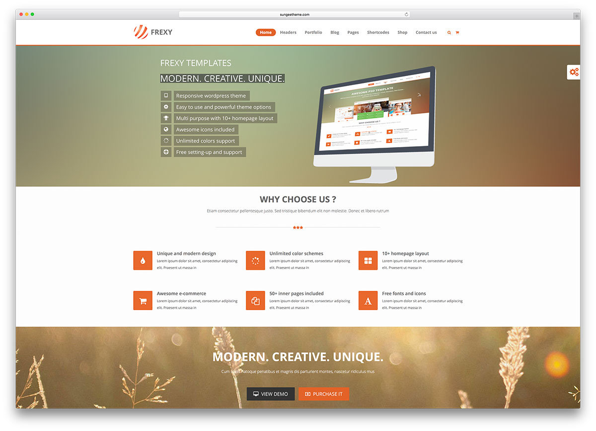 frexy-simple-wordpress-business-theme