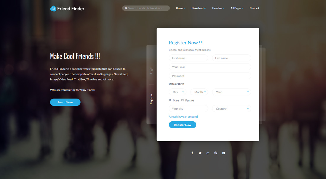 friend-finder-bootstrap-forum-templates