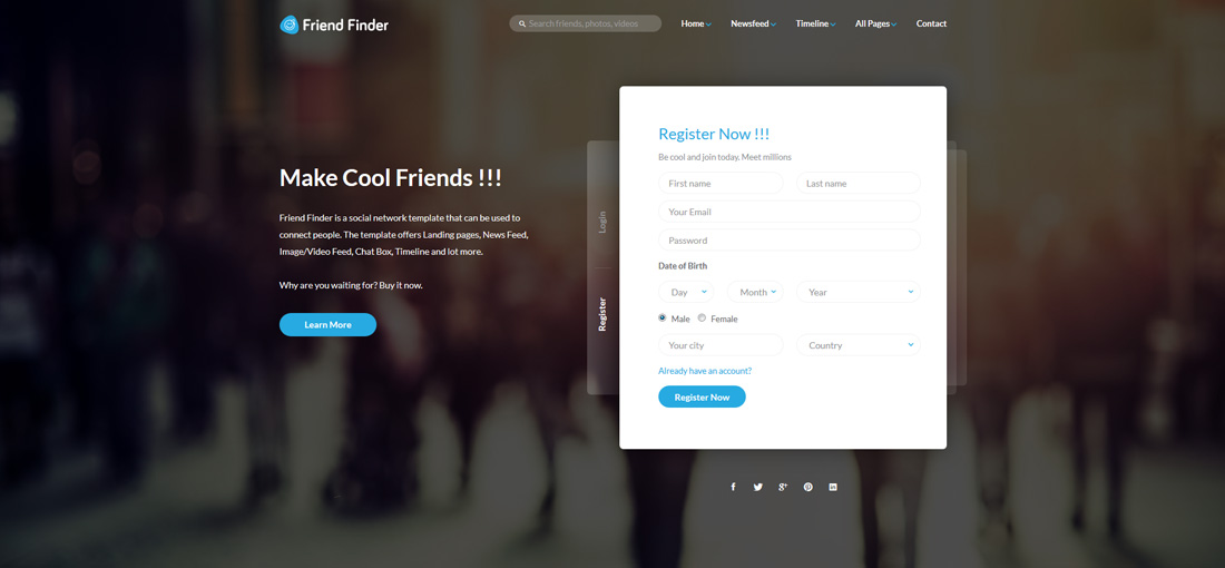 friend-finder-bootstrap-social-network-templates