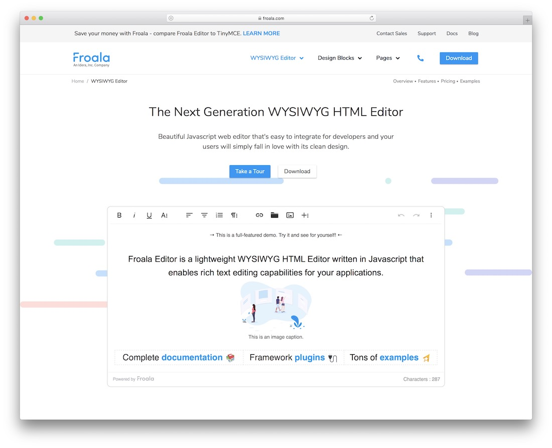 froala text editor for html5 developers